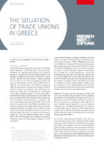 The situation of trade unions in Greece